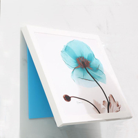 Bathroom Concealed storage box foldable wall painting box mural decoration clothes organizer rack Punch free