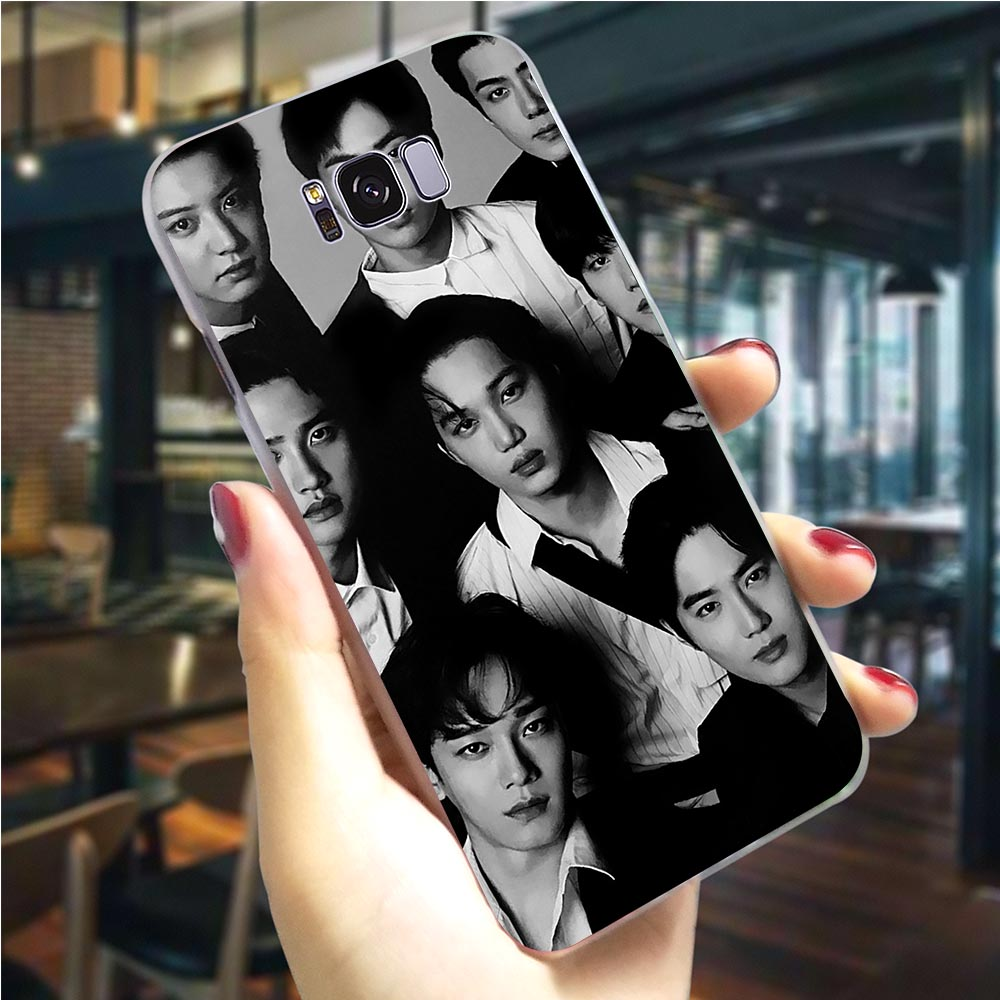 <font><b>Korean</b></font> male band Hard Cover for <font><b>Samsung</b></font> <font><b>Galaxy</b></font> S8 Plus Phone <font><b>Case</b></font> for M20 M30 S6 <font><b>S7</b></font> <font><b>Edge</b></font> S8 S9 S10e Note 8 9 10 Plus M10 image