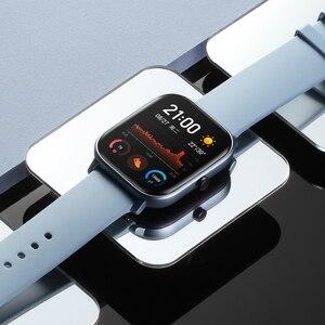 Image 4 - Global Versie Amazfit Gts Smart Horloge Amoled Running Sport Hartslag 5ATM Armband Gps Smart Horloge Amazfit Horloge