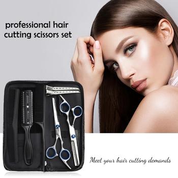 8 9 sztuk profesjonalne nożyczki fryzjerskie zestaw ścinanie włosów nożyczki nożyczki do włosów ogon grzebień włosów Cape maszynka do włosów grzebień tanie i dobre opinie Aikisme CN (pochodzenie) Brak universal STAINLESS STEEL 8 10pcs Professional Hairdressing Scissors Thinning Scissors Trimmer Kit