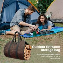 Outdoor Firewood storage outdoor firewood storage bag firewood transport bag canvas tote bag wood carrier Tent Accessories