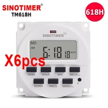 Wholesales 6PCS/Lot TM618H Voltage Output Digital Time Relay 7 Days Weekly Programmable Timer Switch 220V for Lights