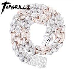 TOPGRILLZ 20mm Miami Lock Verschluss Kubanischen Halskette Iced Out AAA Cubic Zirkon Cuban Link Kette Hip Hop Schmuck Für mann Halsketten