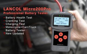 Image 2 - Lancol Mciro200Pro Für 12V Batterie Tester Diagnose Werkzeuge Für Auto Mit Digital Automobil Analyzer Tester Werkzeug Für Auto Tester