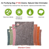 Neue Luft Reinigung Tasche 5*100 Gramm Natürliche Geruch Eliminator Duft Kostenloser Chemische Freies Geruch Absorber Fängt und holzkohle Farbe-in Lufterfrischer aus Kraftfahrzeuge und Motorräder bei