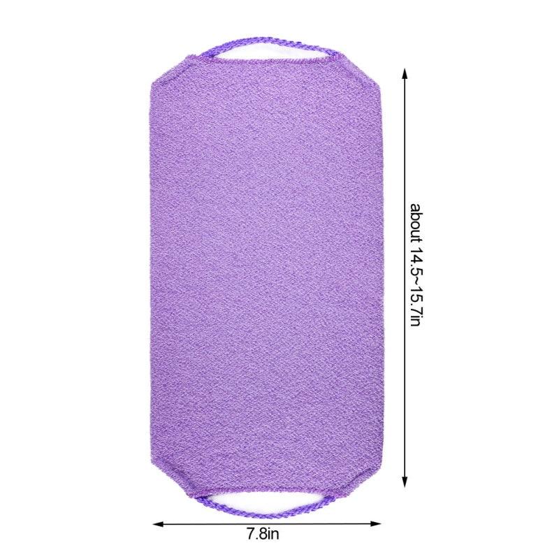 1pc Stretchable Body Clean Exfoliating Neck Back Scrubber Shower Bath Cloth Tool Washcloth 3
