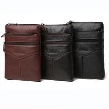 Модные мужские сумки-мессенджеры из натуральной кожи на молнии, повседневные мужские сумки через плечо, женские сумки