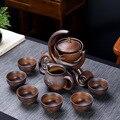 Keramik stein schleifen halbautomatische Tee-Set, kreative Kung Fu tee Heiße verkäufe von tee-set. kreative Tee zeremonie liefert