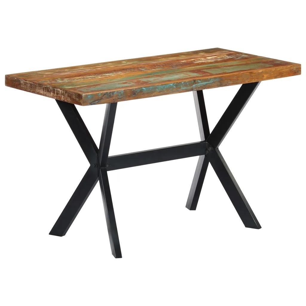 VidaXL Dining Table 120x60x75cm Solid Reclaimed Wood 247443