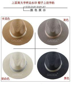 Image 2 - Big Head Man Large Size Panama Hat Lady Beach Sun Cap Male Fedora Hat Men Plus Size Straw Hat 55 57cm 58 59cm 60 62cm 62 64cm