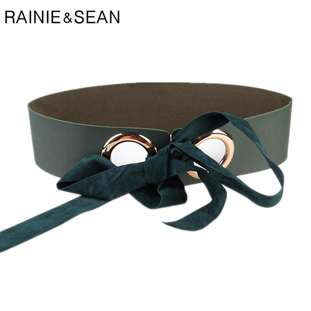 RAINIE SEAN Women's High Waist Belt For Dresses Leather Corset Belt For Women Vintage Lace-up Ladies Cummerbund Accessories