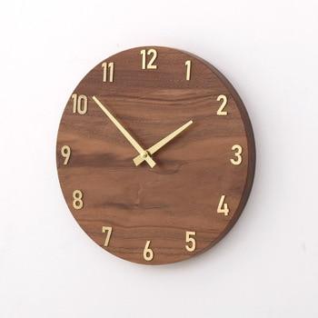 Minimalist Nordic Wall Clock Wood Vogue Silent Creative Wall Clock Stylish Zegary Na Sciane Living Room Home Decor 2019 SS60WC