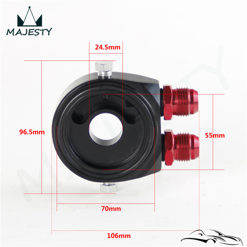 """Alloy Universal AN10 Oil Filter Cooler Sandwich Plate Adapter /Apaptor 10 AN Fitting with /4""""X16UNF / M20x1.5 Fitting