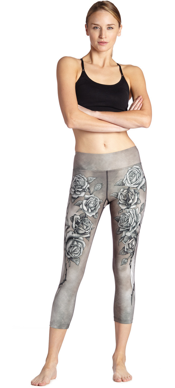 New Rose Sword Skinny Exercise Breathable Sweat-absorbent Running Women's Seven-point Lady Pants Leggings