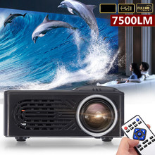 Projector Beamer Video-Theater Movie Home Cinema 1080P 7500 HD 320x240 Multimedia Resolution