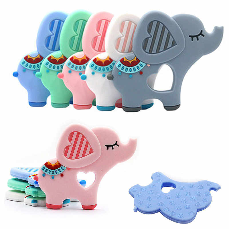 Food Grade Silicone Teethers DIY Animal Elephant Baby  Teether Infant Baby Silicone  Charms Kids Teething Gift Toddler Toys