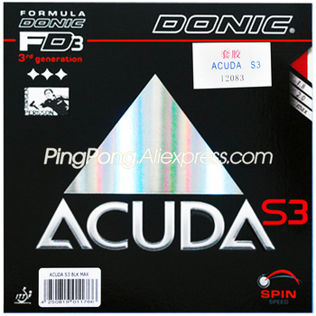 Donic ACUDA S3 Table Tennis Rubber Pips-in Original DONIC ACUDA S3 Ping Pong Sponge
