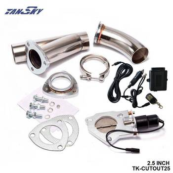 2.5 INCH EXHAUST CUTOUT ELECTRIC DUMP Y-PIPE CATBACK CAT BACK TURBO BYPASS STEEL For Ford F250 6.0L TK-CUTOUT25