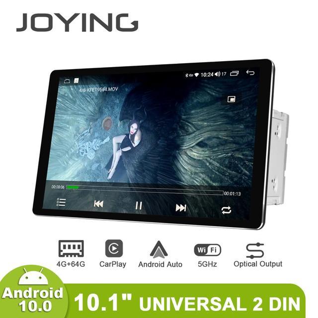 신제품 자동차 라디오 2din 멀티미디어 안드로이드 10 헤드 유닛 4 기가 바이트 64 기가 바이트 HD 1280*800 Autoradio 오디오 시스템 Carplay 4G 블루투스 DVR