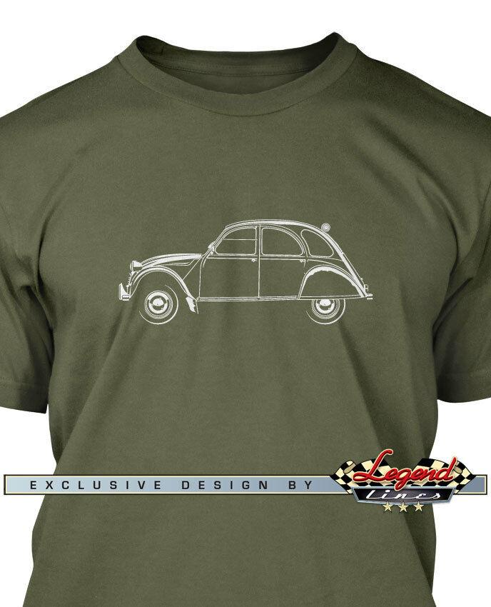 Citroen 2CV Deux Chevaux Men T-Shirt - Multiple Colors Sizes  French Classic Car