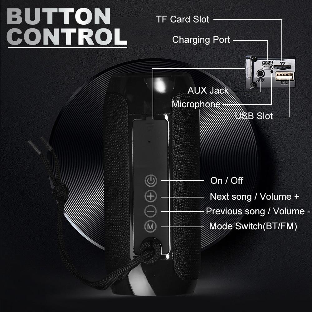 Portable Bluetooth Speaker Wireless Bass Column Waterproof Outdoor USB Speakers Support AUX TF Subwoofer Loudspeaker TG117 6