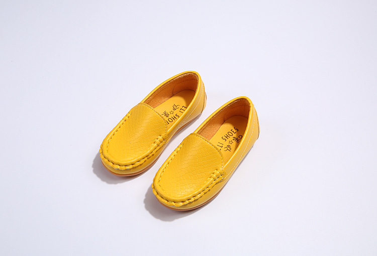 H7b586e795b0442a7b0540f1b875128edP - SKOEX Boys Girls Shoes Slip-on Loafers Oxford PU Leather Flats Soft Kids Baby First Walkers Mocassins Children Toddler Sneakers