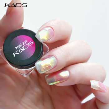 KADS serie de uñas Nude brillo en polvo espejo brillante uñas arte DIY cromo pigmento brillos polvo Rosa uñas Consejos Decoración