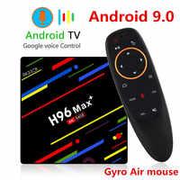 H96 MAX Plus TV BOX Android 9.0 4GB di RAM 32GB 64GB di ROM Rockchip Set Top Box 5G Wifi 4K smart Media Player pro PK X96 RK3318 HK1