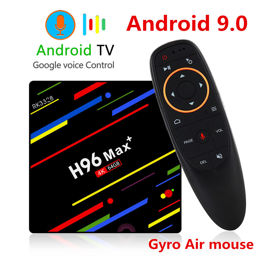 H96 max plus caixa de tv android 9.0 4 gb ram 32 gb 64 gb rom rockchip conjunto caixa superior 5g wifi 4 k smart media player pro pk x96 rk3318 hk1
