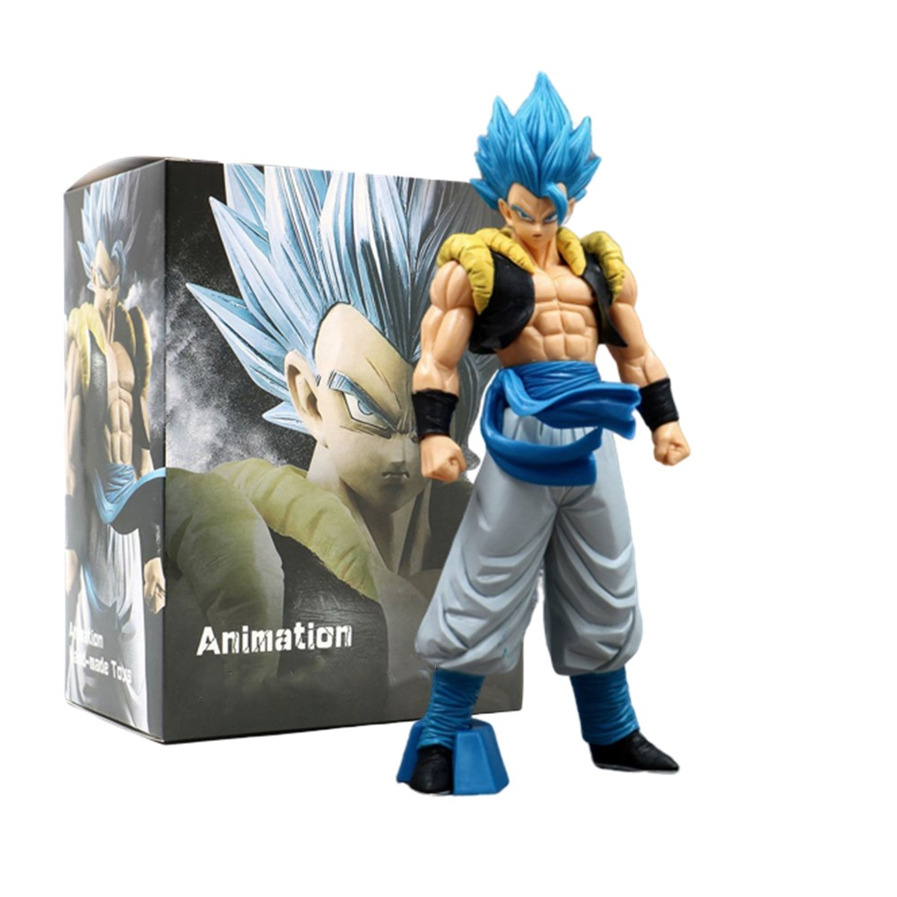 Anime Dragon Ball Z Gogeta Action Figures Super Saiyan Grandista Figma Blue Gogeta Goku Toys Model PVC Collectible ROS DBZ Doll