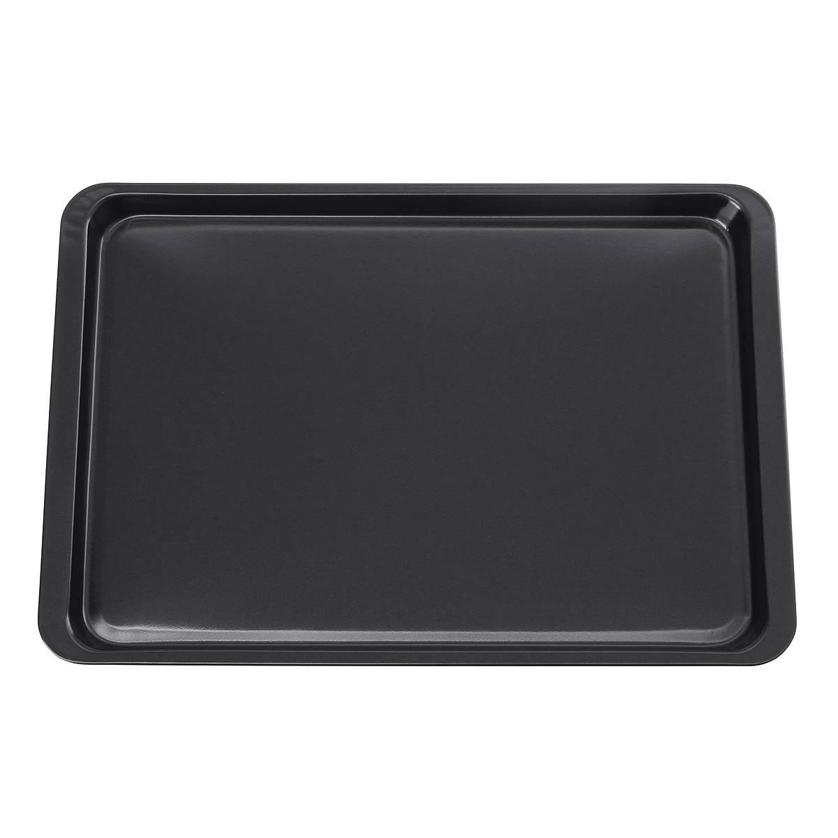 Rectangular Carbon Steel Non-stick Bread Cake Baking Tray Baking Tray Oven Black Baking Tray Diy Baking Pans for Kitchen 14 Inch