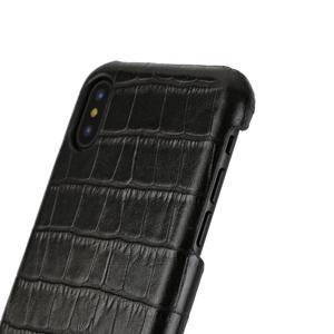 Image 3 - Solque funda de piel auténtica para iPhone X XS MAX XR 7 8 Plus, funda delgada de cocodrilo de lujo
