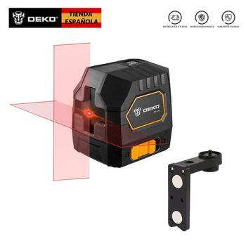 DEKO DKLL02 Mini láser 2-Líneas Nivel láser de Línea Cruzada Con Fuente...