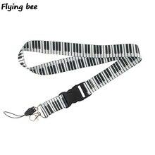 Flyingbee Piano music Keychain Cartoon Cute Phone Lanyard Women Fashion Strap Neck Lanyards for ID Card KeysX0470