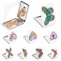 5d diy pintura diamante espelho mini bolso feminino menina maquiagem espelho borboleta strass diamante bordado espelhos