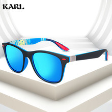 KARL New Sports Sunglasses Men Elastic Paint Polarized Outdoor Driving Color Changing Mirror Women Glasses Oculos