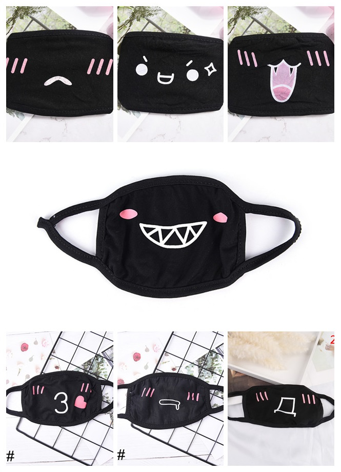 Multi-Style Kpop Face Mouth Masks Anime Cartoon Teeth Pattern Muffle Women Men Cotton Dustproof Mouth Face Mask