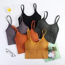 Sport Yoga Beha Vrouwen Vest Fitness Gewatteerde Sexy Running Gym Beha Draad Gratis Ademend Slaap Shockproof Sportbeha