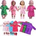 Халат для куклы 15 дюймов, ночная рубашка на выбор для американской 18-дюймовой куклы для девочек и 43 см, аксессуары для одежды для новорожденн...