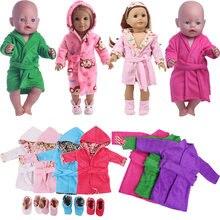15 roupão de banho de boneca camisola escolher para americano 18 Polegada menina boneca & 43 cm bebê nascido boneca roupas acessórios & nossa geração