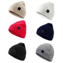 Hat Black Beanie Soft-Cap Warm Autumn Winter Outdoor Unisex Men Red-Hat Knitted Korean