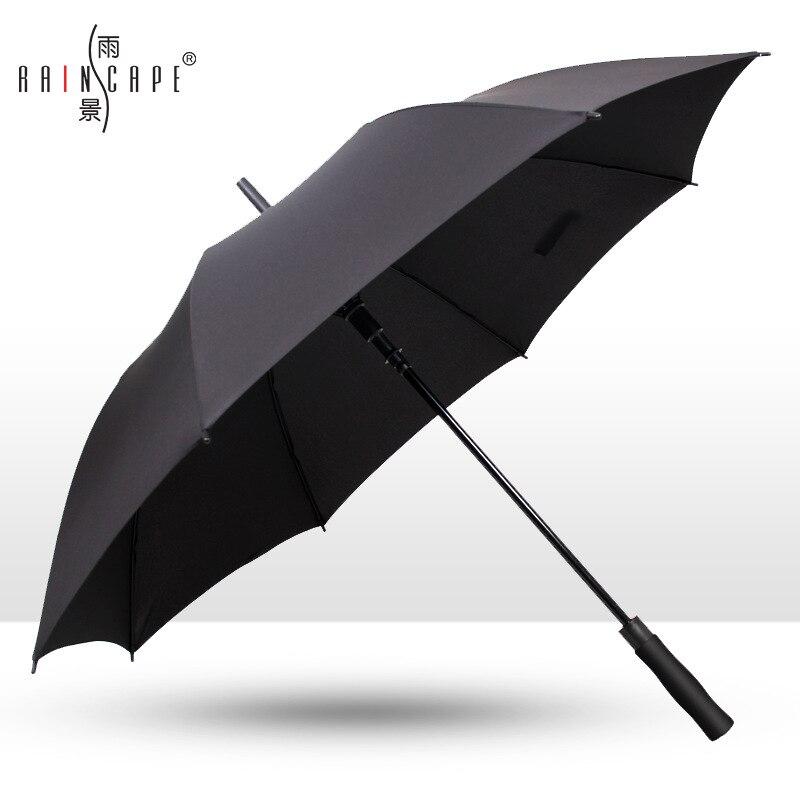 Rain Cape Advertising Umbrella Customizable Extra-large Wind-Resistant Long Handle Umbrella Men Business Outdoor All-Weather Umb
