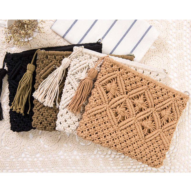 Lovevook Woven Bag Women Beach Bags For Summer Crossbody Bags For Ladies 2020 Travel Cutch Straw Bag Bohemia Tassel Cotton Rope