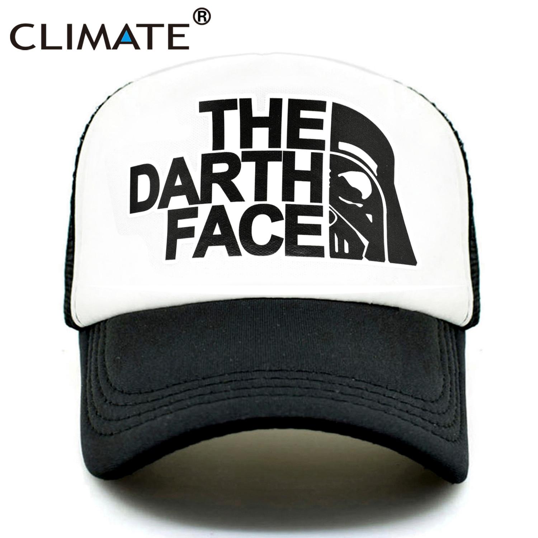 CLIMATE Darth Trucker Cap Star Darth Wars Funny Caps Men The Darth Face Hat Baseball Cap Cool Summer Mesh Net Cap Hat For Men