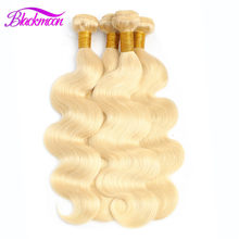 Extensiones de pelo ondulado brasileño, 613 paquetes de mechones Rubio, extensiones de cabello humano remy, paquetes de ondas corporales, 8 24 26 pulgadas, paquetes de cabello