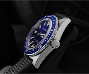 Image 5 - 62MAS Men Automatic Watch Stainless Steel Diving Watch 200m Water Resistant Ceramics Bezel San Martin Fashion Wristwatch NH35