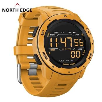 NORTH EDGE SmartWatch Men Digital Men's Sports Watches 2020 Dual Time Pedometer Waterproof 50M Military Alarm Clock Smart watch