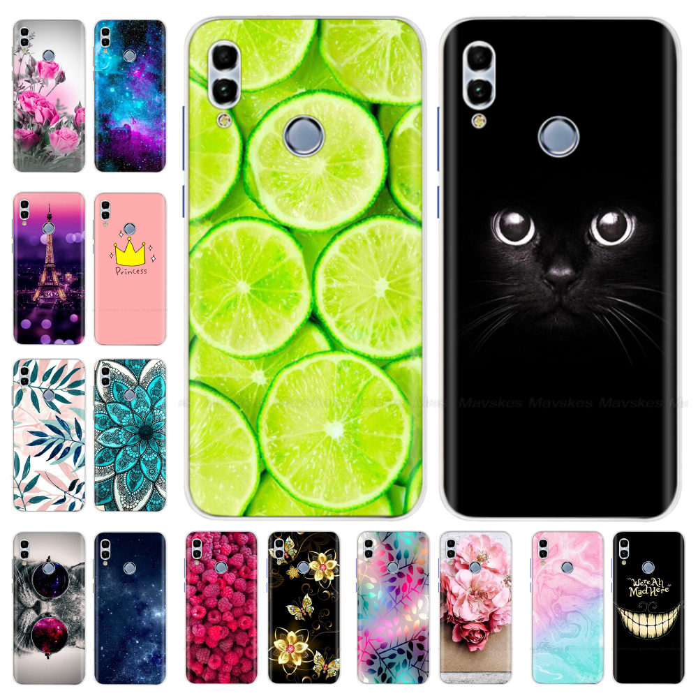 Huawei Honor 10 Lite Case Cover Soft Silicone Cute TPU Back Cover For Fundas Huawei P Smart 2019 / Honor 10 Lite Phone Case Bags