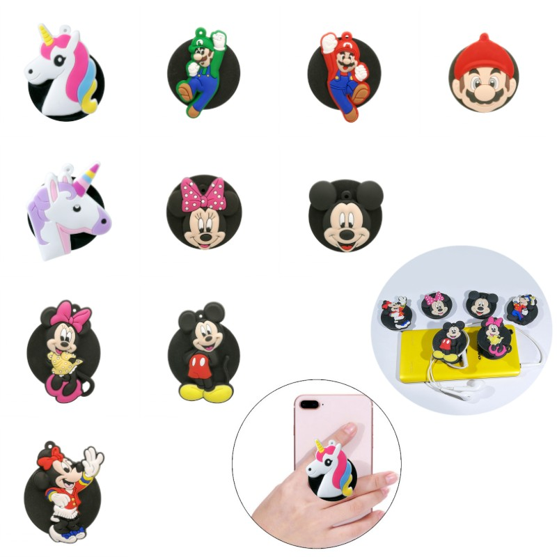 1pcs Universal Mobile Phone Bracket Cartoon Expanding Stand Unicorns Phone Holders&Stands Mickey Star Wars Phone Accessories