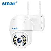 Smar-cámara IP inalámbrica PTZ para exteriores, 5MP, 2MP, Zoom Digital 4X, domo de velocidad, WiFi, CCTV, Audio, IA, detección humanoide